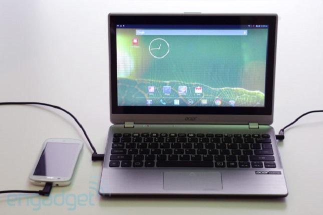 Der Extend nutzt Industriestandard-Technologien zur Kontaktaufnahme mit dem Rechner (Bildquelle: Engadget)