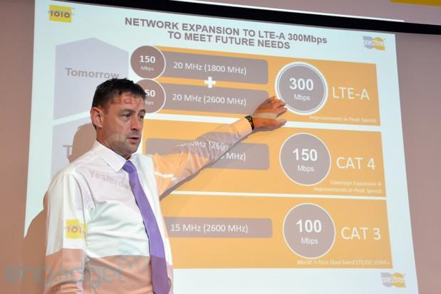 LTE-A soll Geschwindigkeiten von bis zu 300 MBit per Mobilfunkverbindung erlauben.