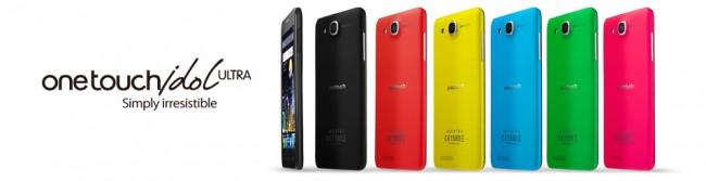 Wie auch das OneTocuh Idol Ultra soll das One Touch Idol S und One Touch Idol mini in vielen verschiedenen Farben erhältlich sein. Foto: Alcatel.
