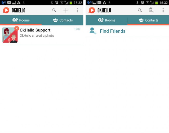 OK Hello ist ein Messenger mit Videodienst.Videos werden auf den Server geladen und die Freunde sowie die Gruppe haben dannach auch Zugriff auf dieses Video.