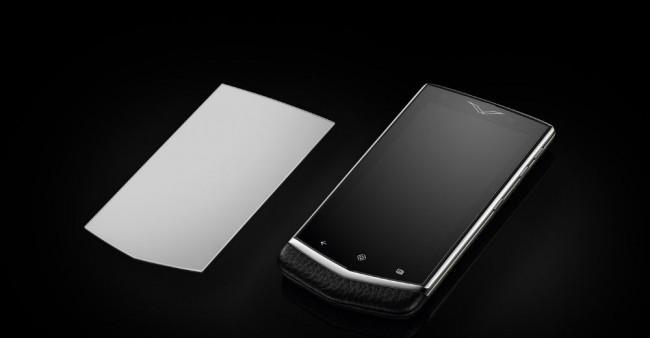 Das Display des Edelsmartphones besteht aus kratzfesten Saphirglas. Foto: Vertu.com.