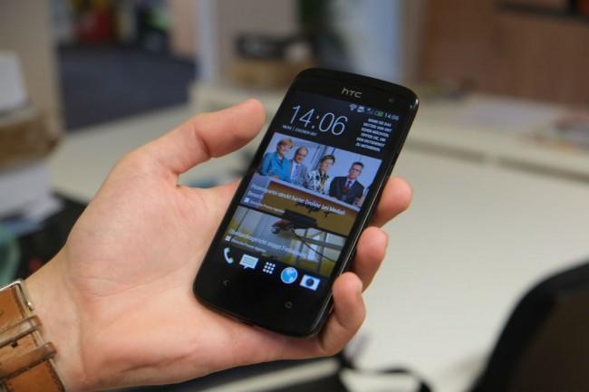 Blickwinkelstabilität und Farbtreue wissen beim HTC Desire 500 zu überzeugen.