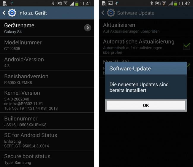 Unser Galaxy S4 hat bereits das Update erhalten. Wie sieht es bei euch aus?