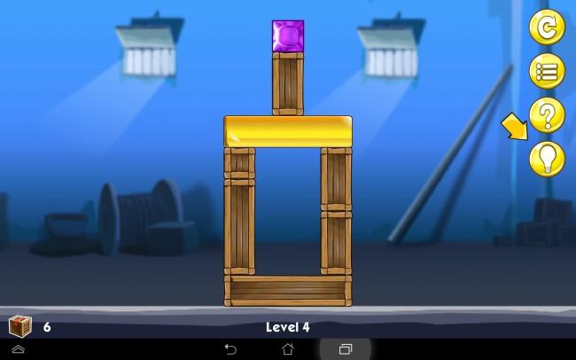 Deine Aufgabe ist es, das Juwel auf den goldenen Block zu bringen.