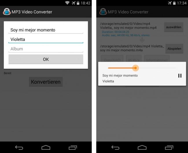 Der MP3 Video Converter wandelt die Tonspuren von Videos in Audiodateien um. Die App unterstützt dabei die wichtigsten Dateiformate.