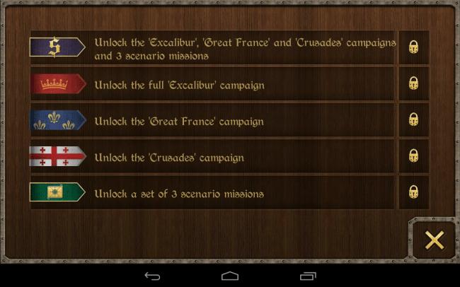 Die kostenpflichtige Premium-Version des Spiels erlaubt es dir, auch französische Armeen und Kreuzritter anzuführen.