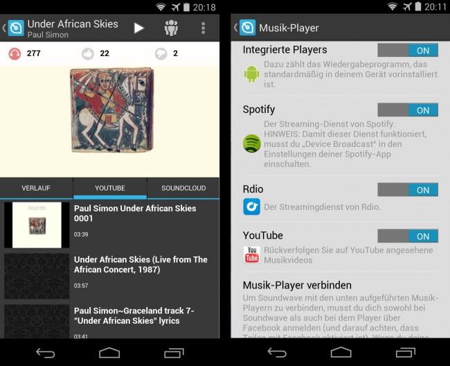 Die App Soundwave verrät dir, welche Musikstücke sich Freunde, Prominente und Menschen in deiner Umgebung gerade anhören.