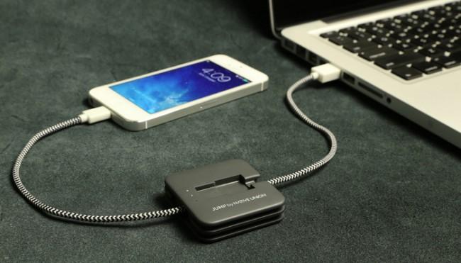 Auch wenn hier ein iPhone zu sehen ist: Der Jump wird mit jedem Smartphone funktionieren können. (Bild: Kickstarter/Native Union)