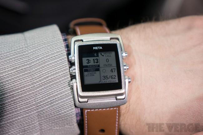 Die Meta ist die erste Nobel-Smartwatch. (Foto: The Verge)