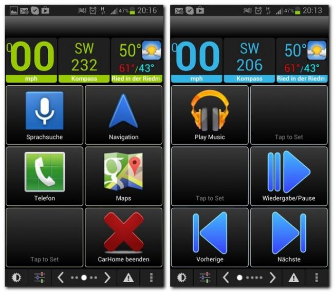 Mit der App CarHome Ultra bekommst du eine vereinfachte und übersichtliche Bedienungsoberfläche auf dein Smartphone.