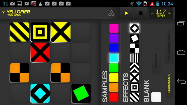 Im Edit-Modus kannst du deine Soundschnipsel frei verschieben und mit Effekten versehen.