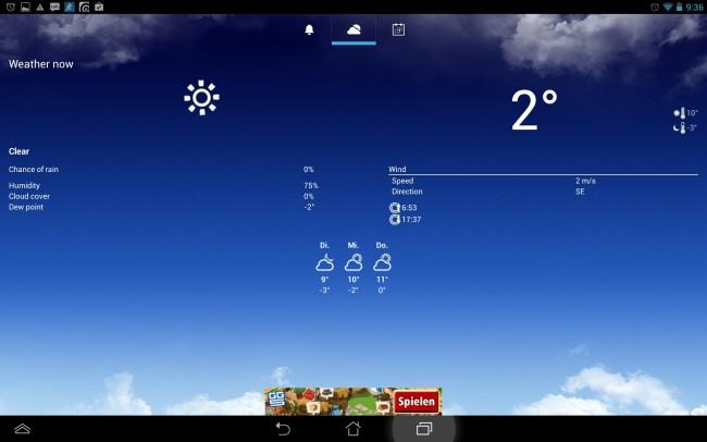 Die Beta-Version von AlarmPad ist schon recht hübsch gestaltet und übersichtlich aufgebaut.