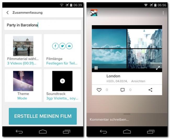 Du wählst die Fotos und Video-Clips sowie ein Musikstück aus, die die App Magisto zu einem professionell aussehenden Video zusammenstellen soll – das du dann online Freunden und Bekannten präsentieren kannst.