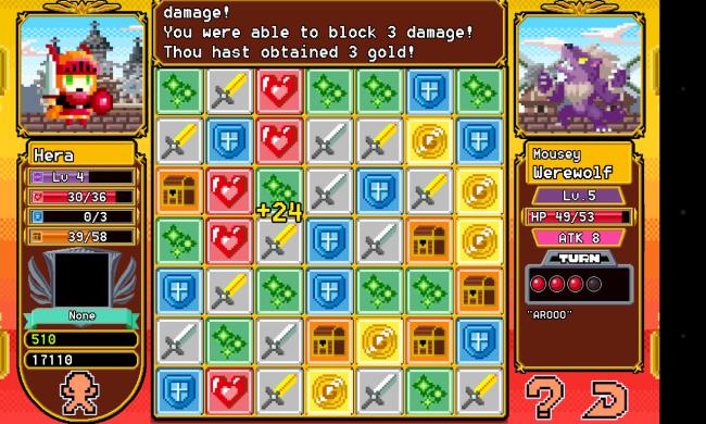 Im Spiel Block Legend kämpft deine Figur gegen diverse Monster. Wie erfolgreich sie dabei ist, das hängt davon ab, wie geschickt du dich bei Einsammeln von gleichartigen Steinen anstellst.