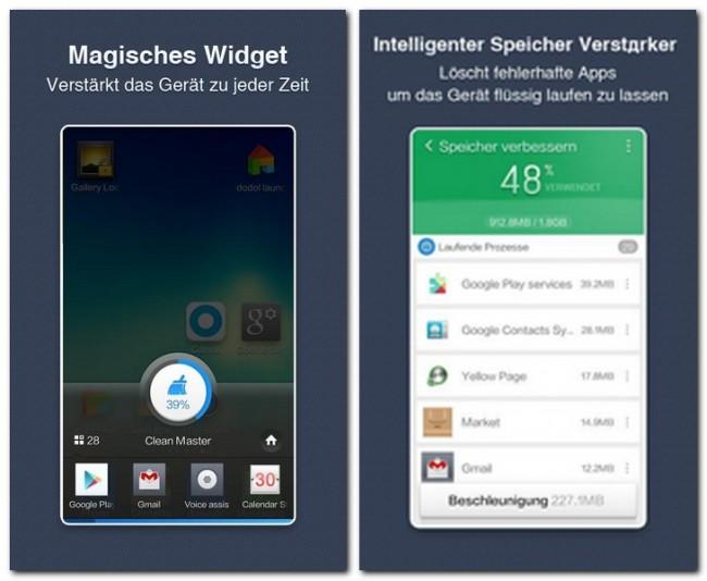 Nach dem Start der App wirst du über den Speicher deiner SD-Karte (sofern vorhanden), sowie des internen Gerätespeichers informiert.