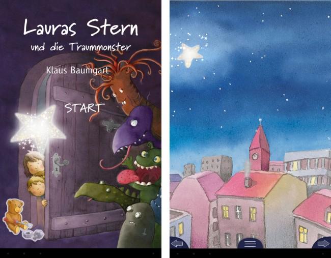 Bei Laura's Stern handelt es sich um ein Bilderbuch, das in dieser App liebevoll digitalisiert wurde.