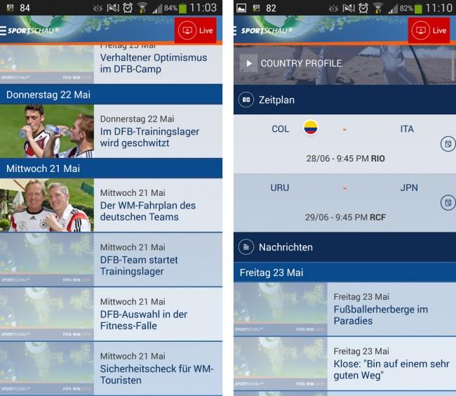 Angefangen von News über Ergebnisse bis hin zu einem Livestream. Mit der Sportschau WM-App kannst du die gesamte Fußball-Weltmeisterschaft einfach verfolgen.