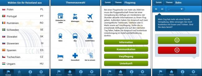 Reiseland und Situation auswählen – schon bekommst du ausführliche Informationen über deiner Rechte