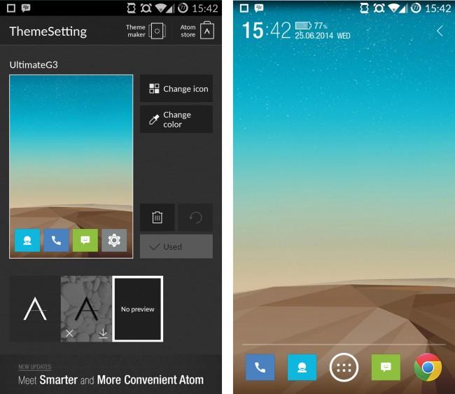 Angefangen vom Hintergrundbild über die Icons kannst du je nach gewähltem Launcher unterschiedliche Aspekte deines Themes verändern.