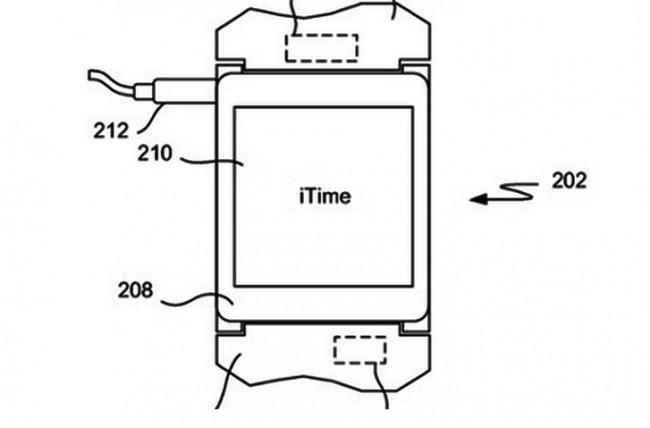 """Ein Patentantrag lässt vermuten, dass Apple seine Smartwatch """"iTime"""" nennt. (Foto: USPTO)"""