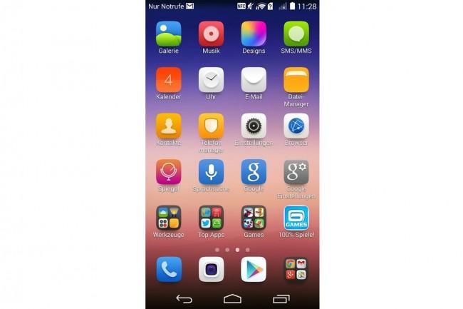 """Die rundlichen Icons erinnern - wie auch andere Aspekte der """"Emotion UI""""-Oberfläche von Huawei - stark an iOS."""