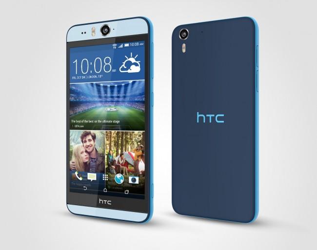 Das ist das neue Desire Eye von HTC in der Farbe Blau. (Foto: HTC)