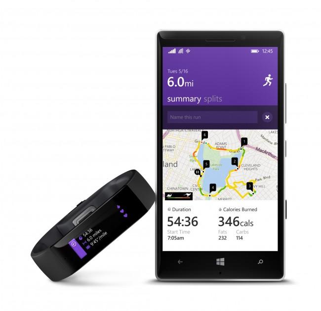 Die App Microsoft Health sammelt die Informationen, die das Microsoft Band per Bluetooth liefert, und stellt sie übersichtlich dar. (Foto: Microsoft)