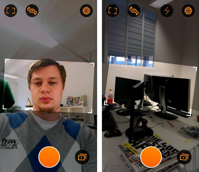 Sowohl die Front- als auch die rückwärtige Kamera kannst du zum Aufnehmen des Videos verwenden.