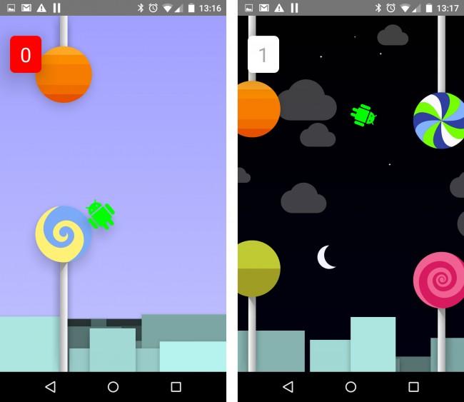 Flappy Droid ist gefühlt um einiges schwieriger als Flappy Bird. Fast wäre das Nexus 5 vom Chefredakteur gegen die Wand geflogen!