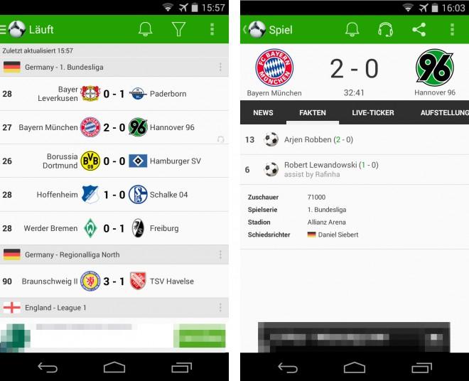 Fußball Ergebnisse - 01