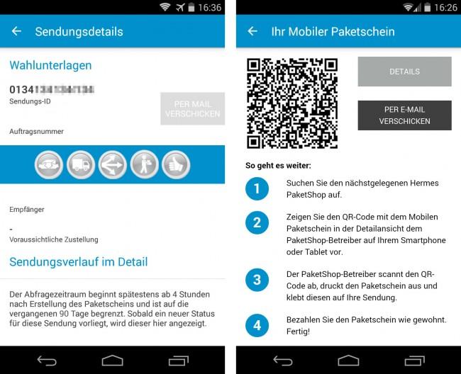 Die App ermöglicht es dir auch, deine Pakete zu verfolgen und direkt auf dem Smartphone Paketscheine anzufertigen.