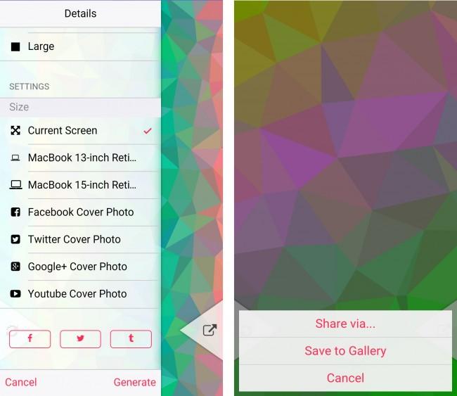 Du kannst dir sogar Banner für Profile von Google+, Twitter oder Facebook erstellen lassen und diese als JPG auf dem Smartphone speichern.