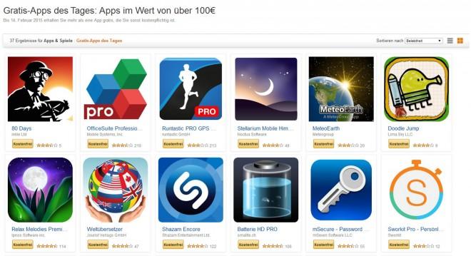Amazon verschenkt bis 14. Februar Apps im Wert von über 100 Euro
