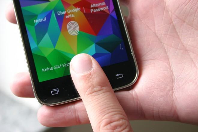Der Homebutton des S5 Mini dient zusätzlich als Fingerabdruck-Sensor.