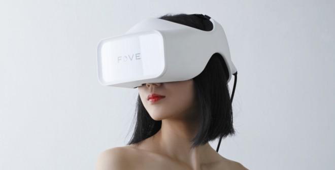 Die Virtual-Reality-Brille Fove registriert nicht nur die Bewegung des Kopfes, sondern auch die Bewegungen der Augen. (Foto: Fove-inc.)