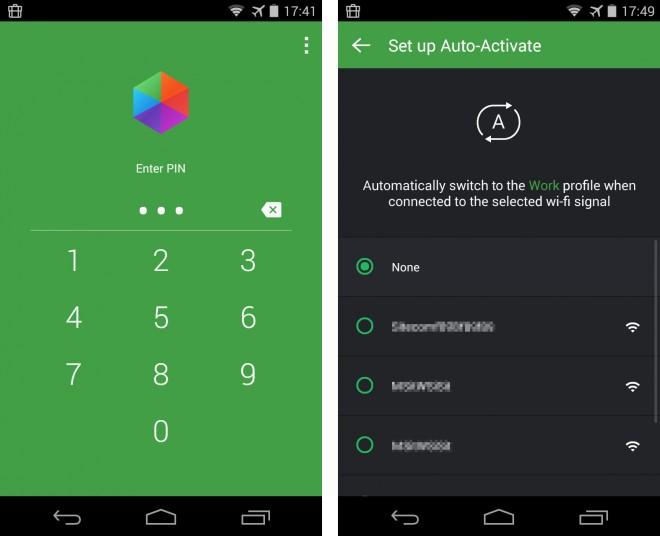 Falls du möchtest, dann schaltet die App automatisch zwischen den Profilen um, wenn dein Smartphone sich bei bestimmten drahtlosen Netzen anmeldet.