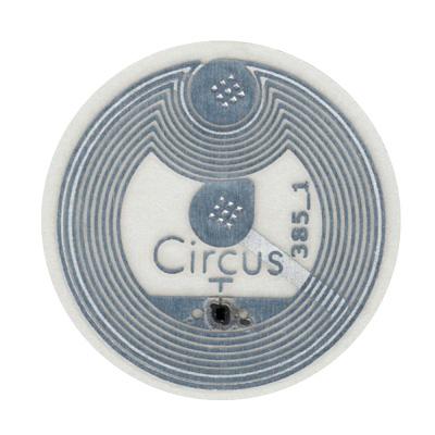 NFC-Aufkleber haben meist einen Durchmesser von zwei bis drei Zentimetern.
