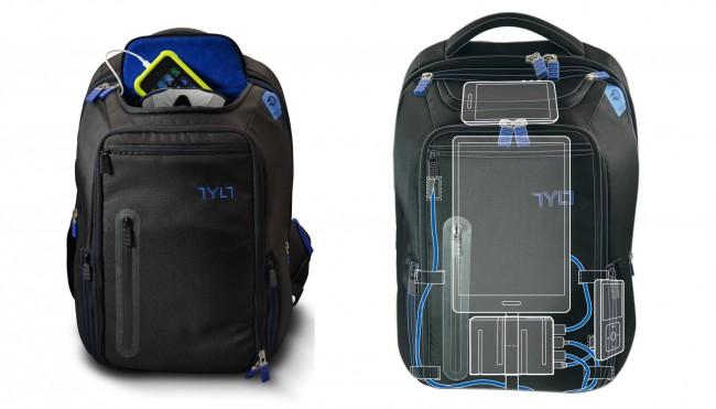 """Der """"Energi+""""-Rucksack verfügt neben einem Hauptfach auch über Fächer für Notebooks, Tablets und Smartphones. (Foto: Tylt)"""