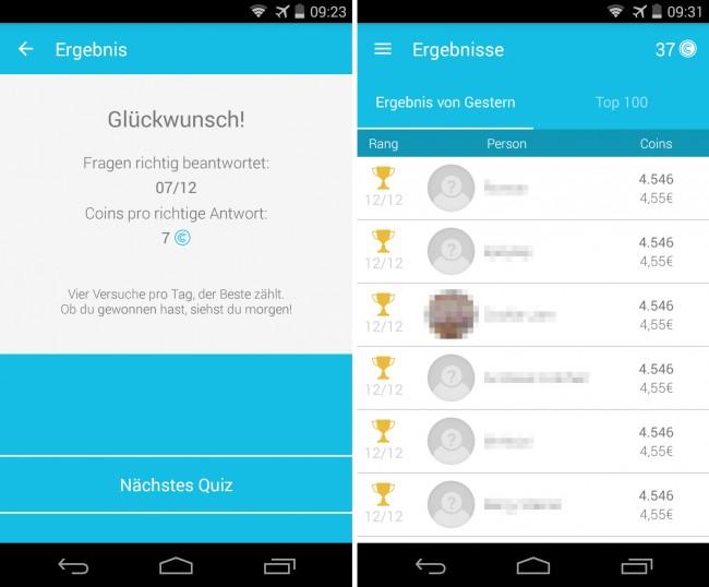 CashQuizz kennt über 30.000 Quiz-Fragen aus verschiedenen Kategorien, wobei viele der Fragen sich auf Österreich beziehen.