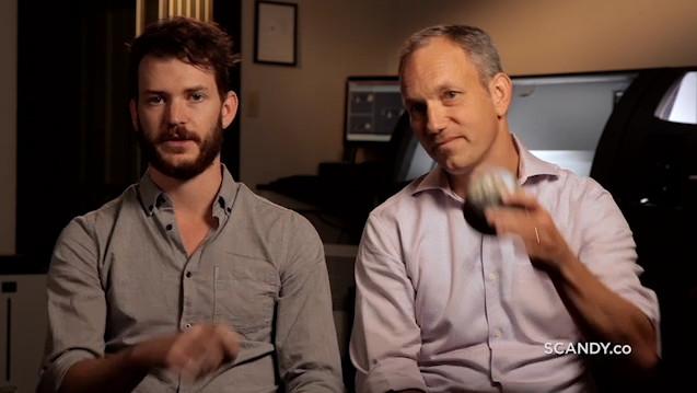 """Die beiden Scandy-Chefs Cole Wiley und Charles Carriere: """"Wir möchten, dass jeder in der Lage ist, seine Welt in 3 D zu scannen und wunderschöne 3-D-gedruckte Inhalte zu bestellen.""""  (Foto: Scandy)"""