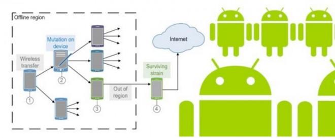 Ein Diagram, das aufzeigen soll, wie das Netzwerk entsteht.