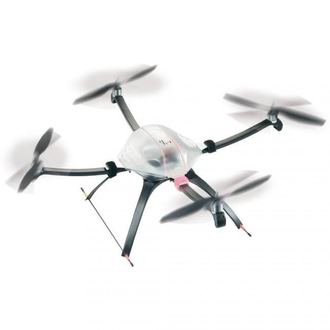 """Quadcopter Quadcopter verwenden """"lediglich"""" vier Propeller. Dadurch sind sie relativ preiswert, können aber im Vergleich zu ihren aufwendigeren Brüdern weniger Gewicht tragen."""