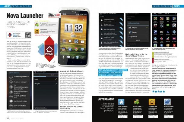 Android Apps 2 - Einzeltest Nova Launcher