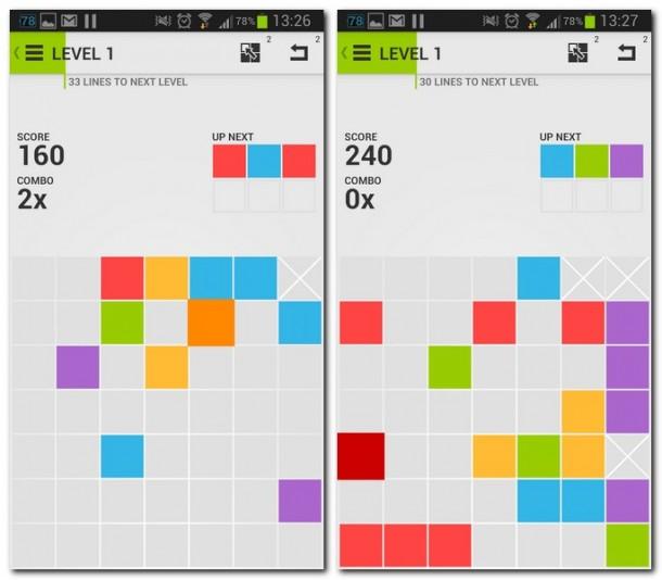 Dieses Puzzlegame erinnert vom Spielzweck her stark an Klassiker wie 4 Gewinnt. Allerdings ist 7x7 nur als Einzelspielerversion verfügbar.