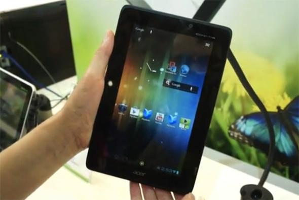 Das Acer Iconia Tab A110. Foto:Engadget.com.