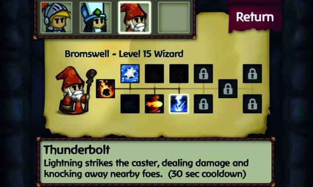 Der Blitz streift den Zaubernden und verursacht Schäden, beseitigt aber auch die Feinde in der Umgebung.
