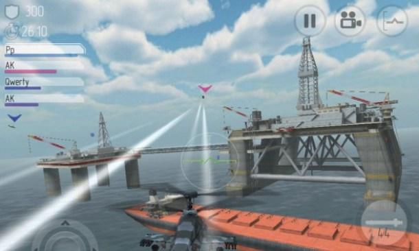 Gegener können mit den Bordkanonen sowie ungelenkten oder auch zielsuchenden Raketen ausgeschaltet werden