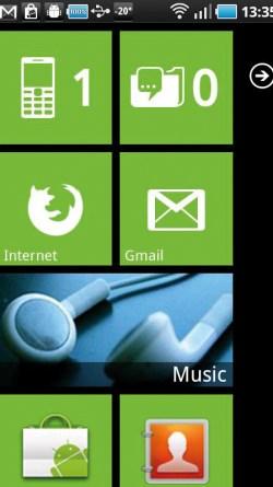 Launcher 7 - Auch das ist unter Android möglich: Die Benutzeroberfläche von Microsofts Windows Phone 7 wurde auf Android portiert – Für alle die von der optischen Erscheinung von Windows Phone 7 angetan sind, auf den grünen Androiden aber doch nicht verzichten wollen.