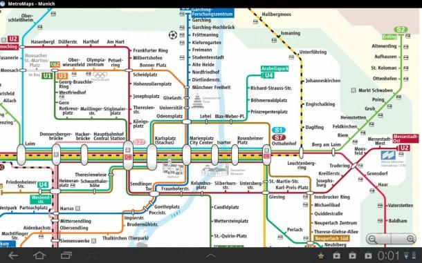 Mit dieser App behältst du in U-Bahnsystemen großer Städte den Überblick.
