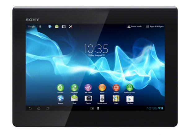 Das Sony Xperia Tablet S läuft mit Android 4.0 und wird von einem Nvidia Tegra 3 Quad Core Prozessor angetrieben. Foto: Sony.